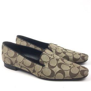 Coach monogram smoking slipper loafer flats